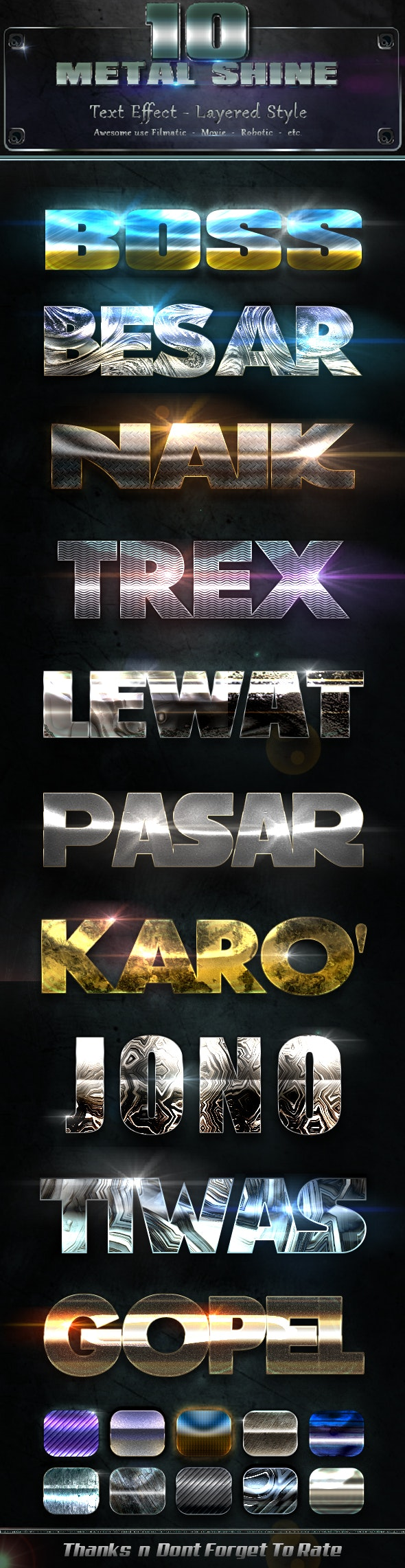 Metal Shiny v8 - Text Effects Styles