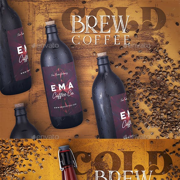 3 Cold Brew Coffee Mock-ups