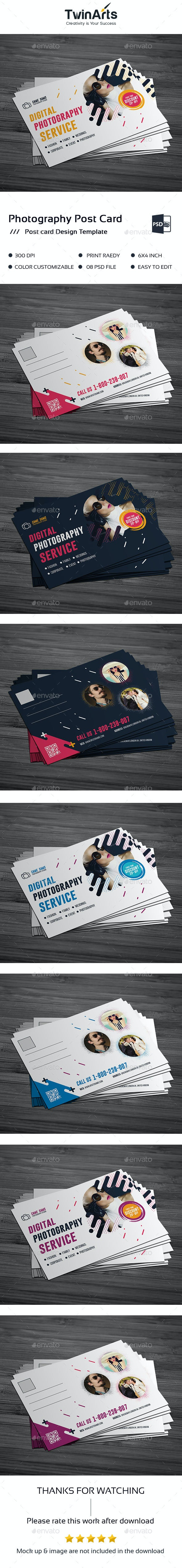 Photography Post Card Design - Cards & Invites Print Templates