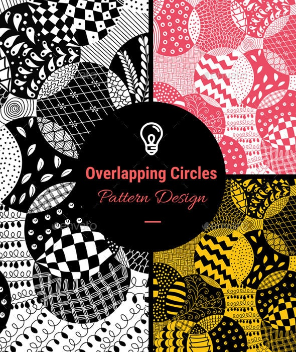 Overlapping Circles Pattern Design