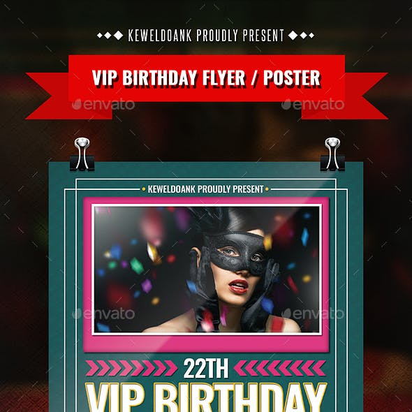 Vip Birthday Flyer / Poster