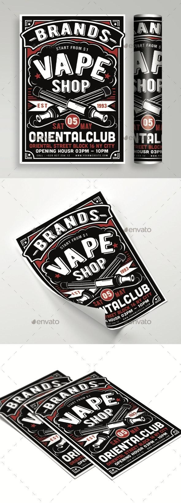 Vape Shop Flyer - Events Flyers