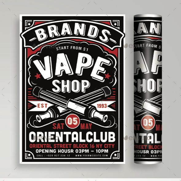 Vape Shop Flyer