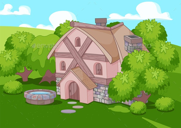 Old English Style House - Buildings Objects