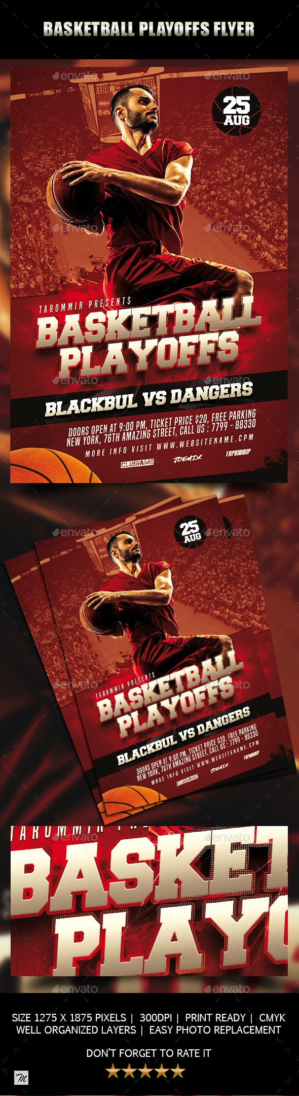 Basketball Playoffs Flyer - Sports Events