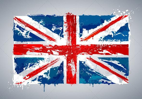 Grunge UK national flag - Travel Conceptual
