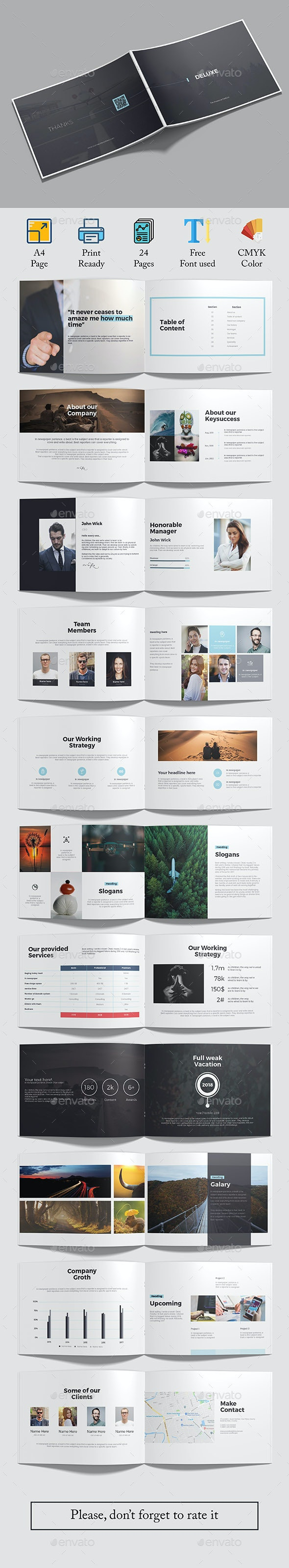 Deluxe A5 Landscape Brochure - Corporate Brochures