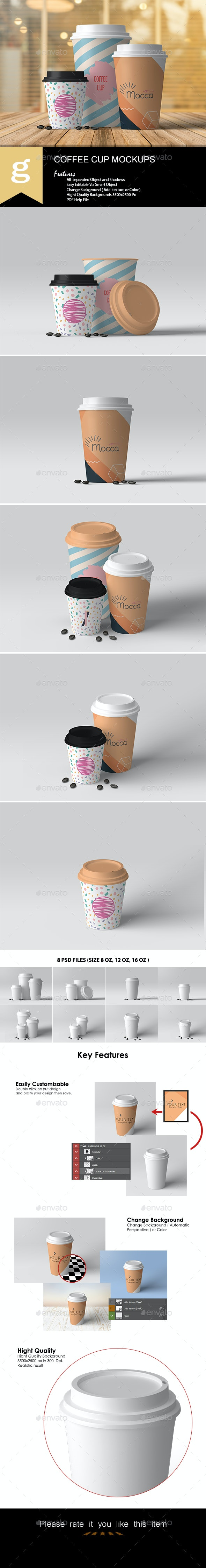 Coffee Cup Mock-Ups - Food and Drink Packaging