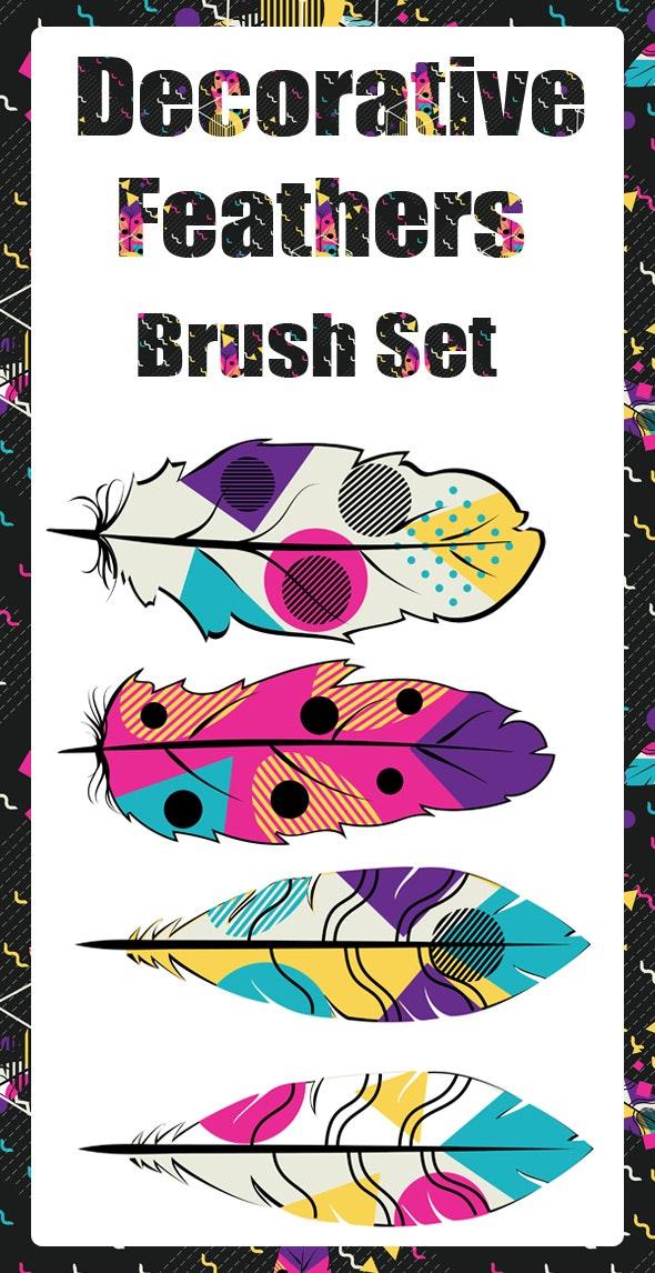 Decorative Feathers Brush Set