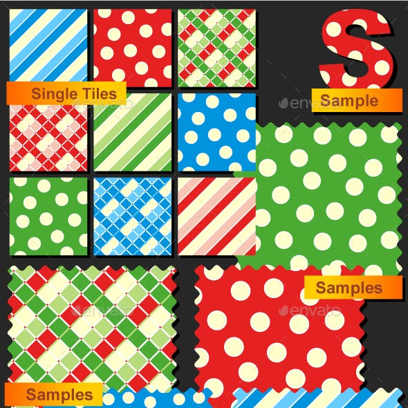 Seamless Patterns - Polka-dots, Plaids and Stripes