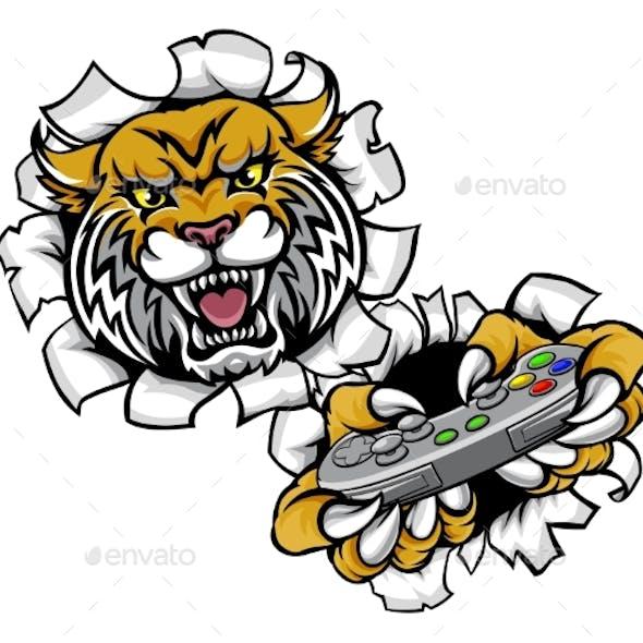 Wildcat Bobcat Esports Gamer Mascot