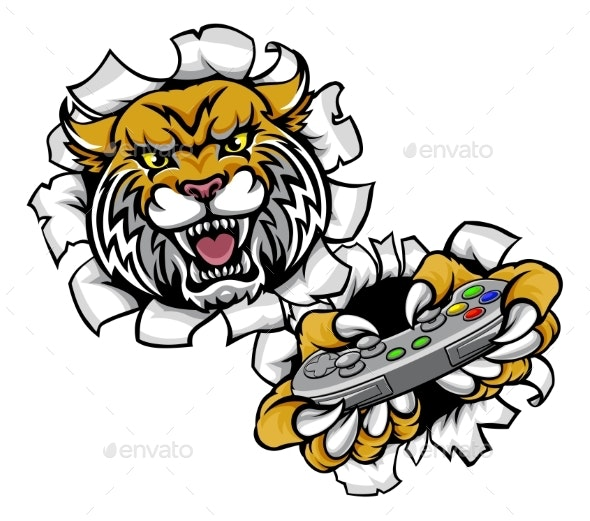 Wildcat Bobcat Esports Gamer Mascot - Sports/Activity Conceptual