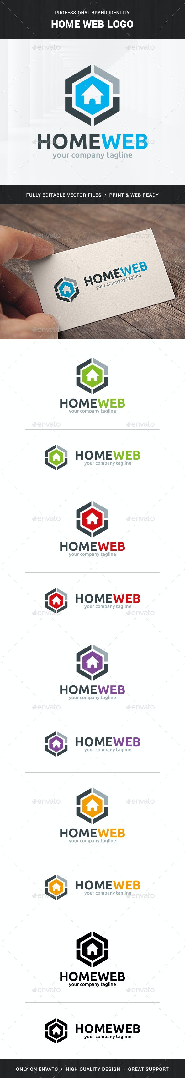 Home Web Logo Template
