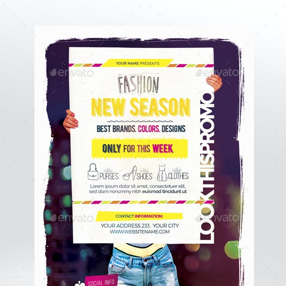 Fashion New Season Flyer Template