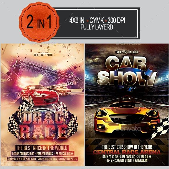 Car Race Flyer Bundle