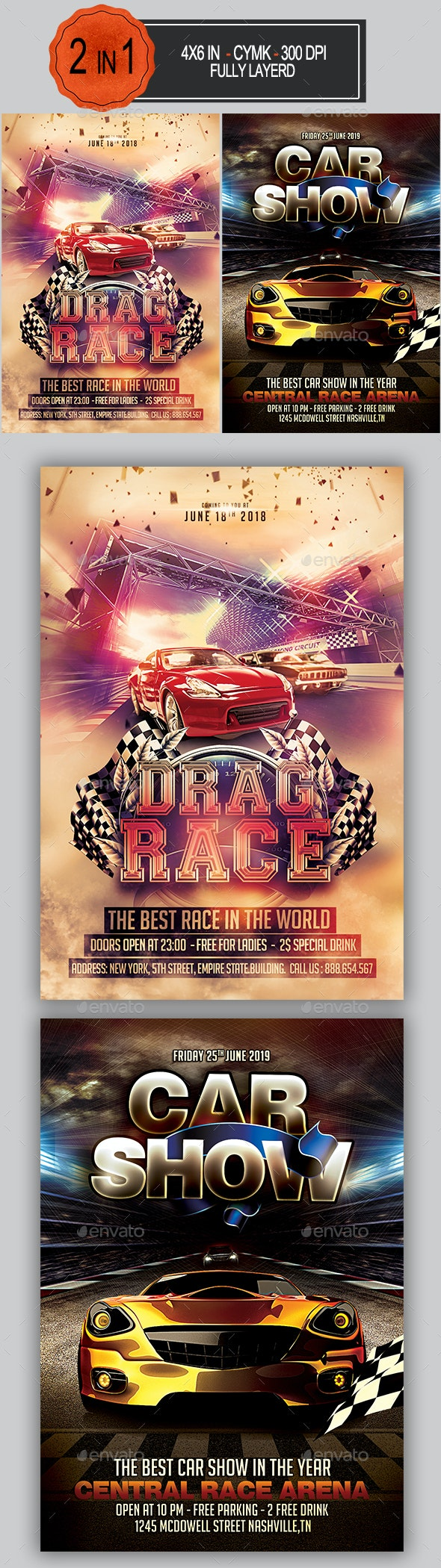 Car Race Flyer Bundle - Sports Events