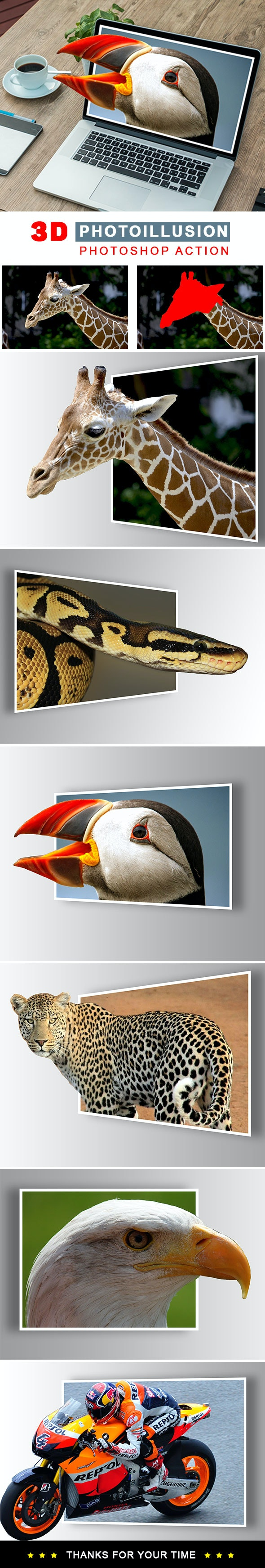 Photoillusion Photoshop Action - Photo Effects Actions
