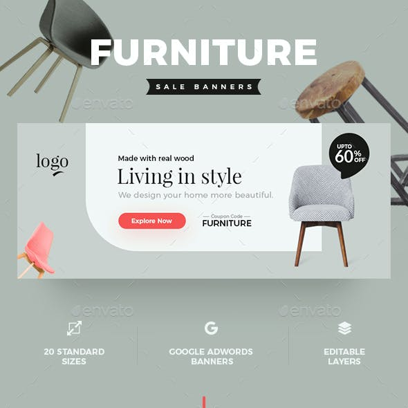 Furniture Web Banner Graphics, Designs & Templates