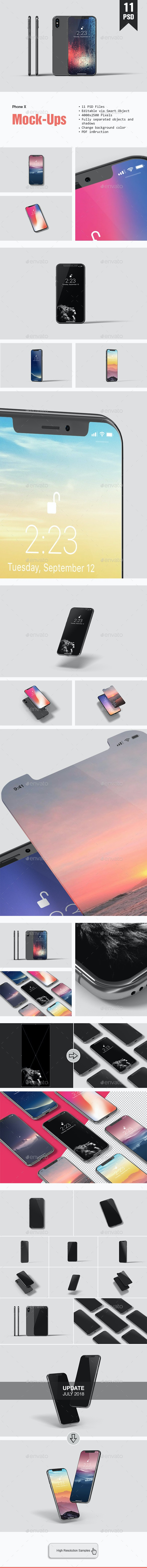 Phone X Mockup - Mobile Displays