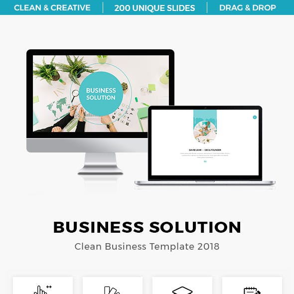Business Solution Clean Presentation Template 2018
