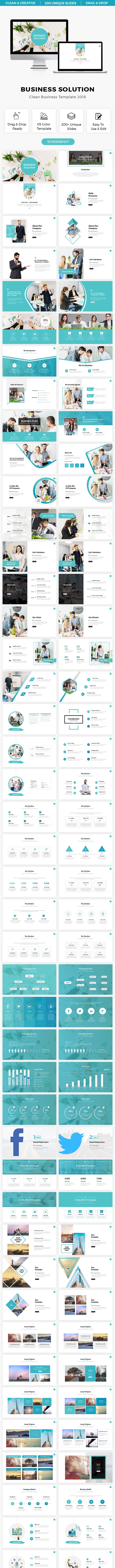 Business Solution Clean Presentation Template 2018 - Business PowerPoint Templates