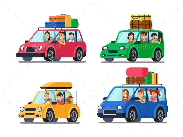 Family Traveling Cars - Travel Conceptual