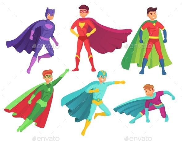 Superhero Man Characters - People Characters