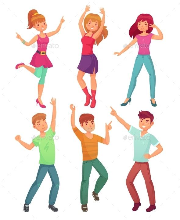 Cartoon People Dance - People Characters