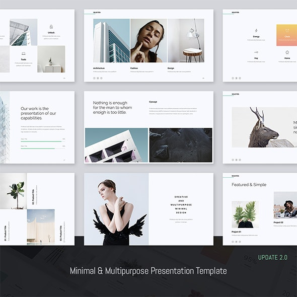 Selected - Minimal Presentation Template (Powerpoint) - Creative PowerPoint Templates