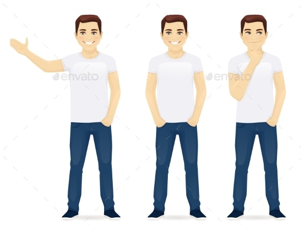 Young Man in Jeans - People Characters
