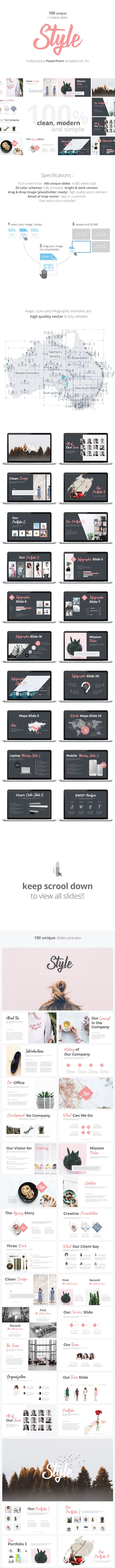 Style - Multipurpose PowerPoint Template (V.41) - Business PowerPoint Templates