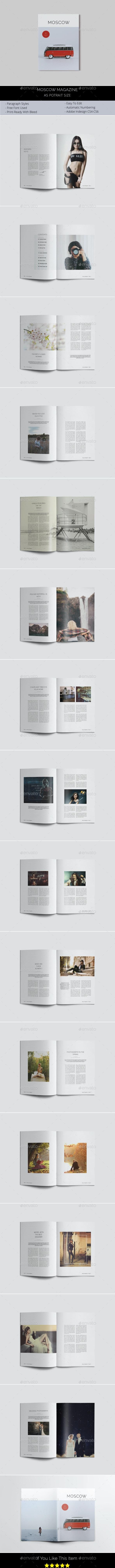 A5 Moscow Magazine - Magazines Print Templates