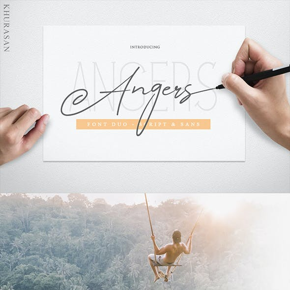 Angers Script Font Duo