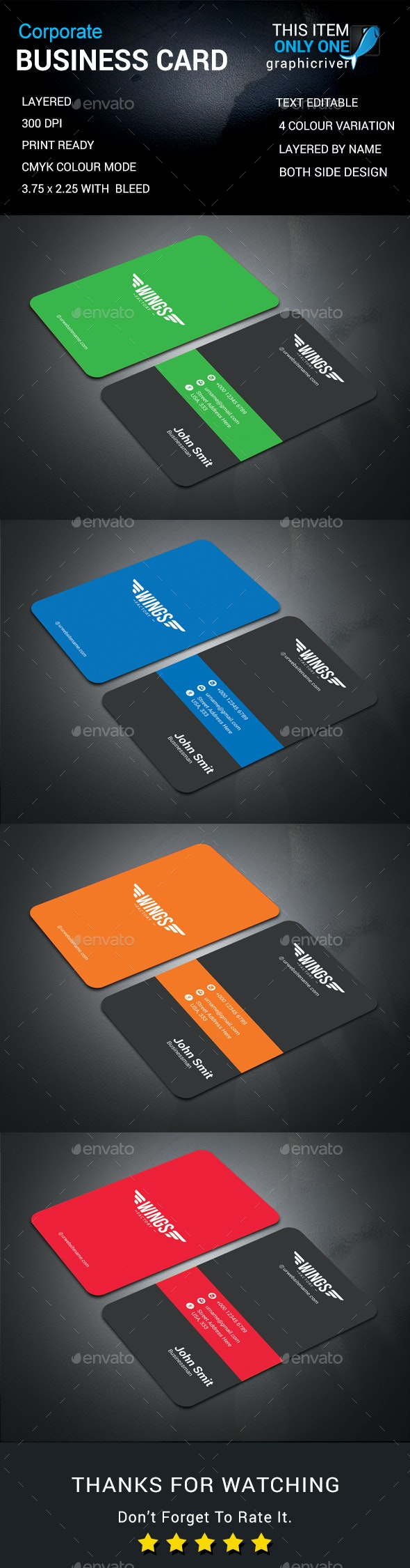 Corporate Business Cards - Business Cards Print
