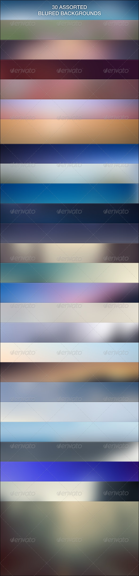 30 Assorted Blur Backgrounds - Abstract Backgrounds