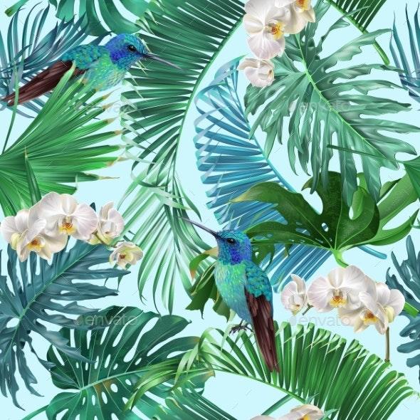 Tropical Emerald Pattern - Flowers & Plants Nature