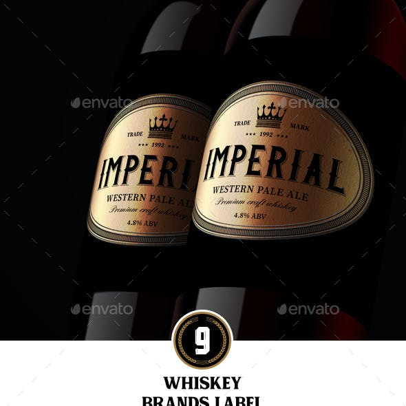 9 Whiskey Brands Label V2