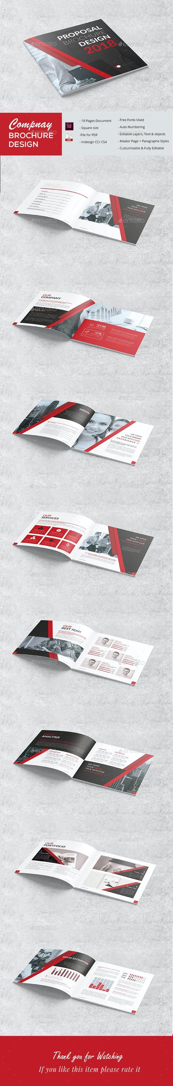 Square Proposal - Brochures Print Templates