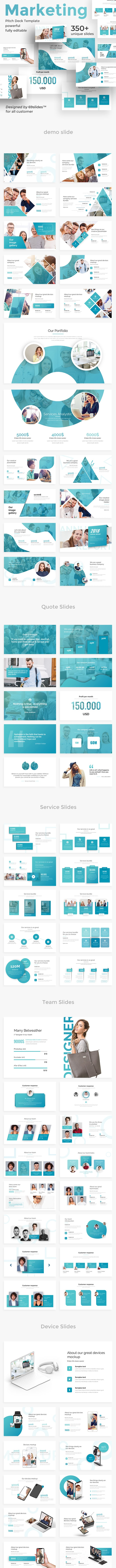 Marketing Pitch Deck Google Slide Template - Google Slides Presentation Templates