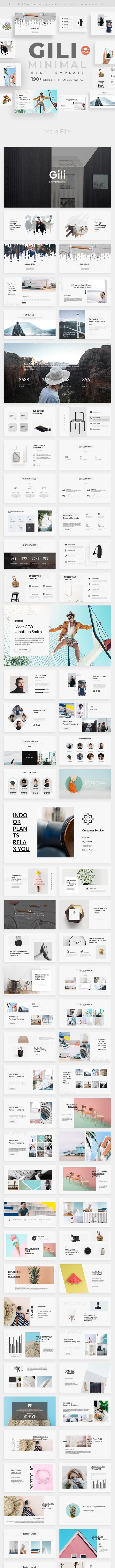 Gili Minimal Design Powerpoint Template - Creative PowerPoint Templates