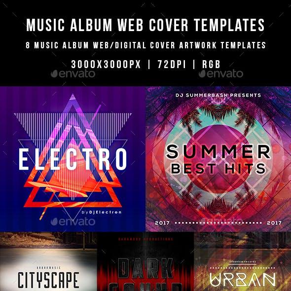 Music Album Web Cover Templates Bundle