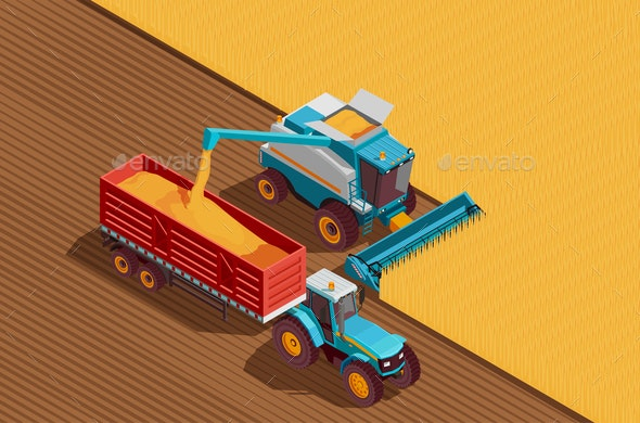 Agricultural Machines Background - Industries Business