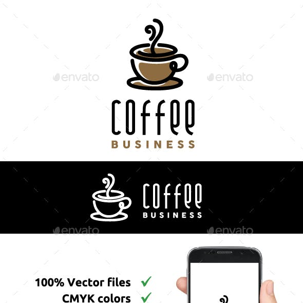 Line Art Coffee Logo Design