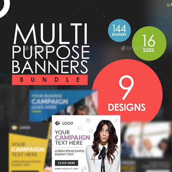 Multi Purpose Banners Bundle - 9 Sets - Updated!