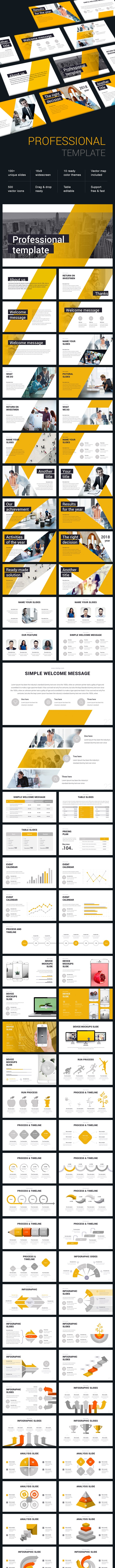 Business Professional - Pitch Deck PowerPoint Templates
