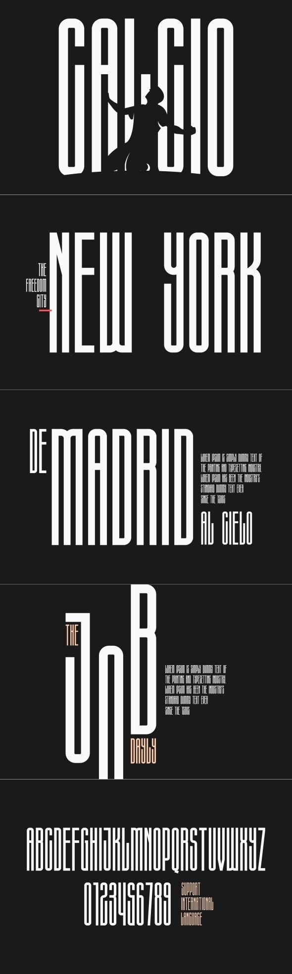 Calcio - Ultra Condensed - Condensed Sans-Serif
