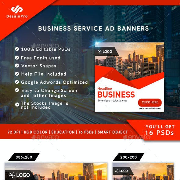 Business Service Ad Banners - AR