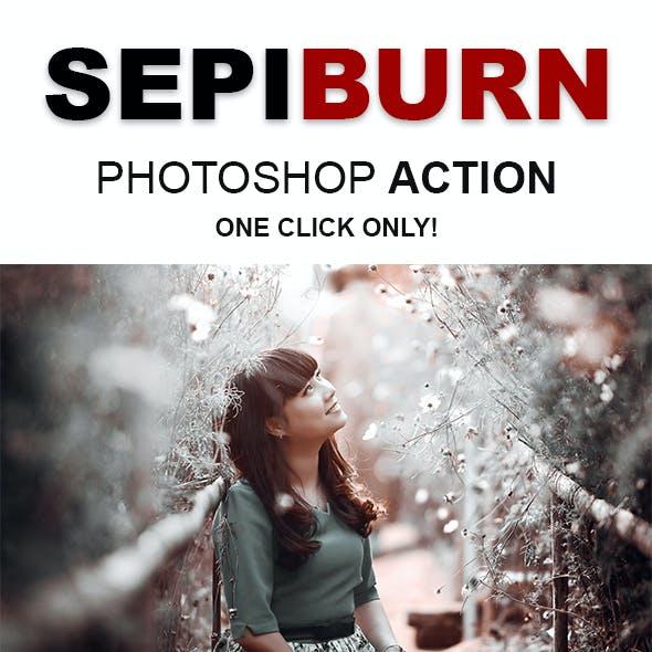 Sepiburn - Dramatic Color Grading Effects Photoshop Action