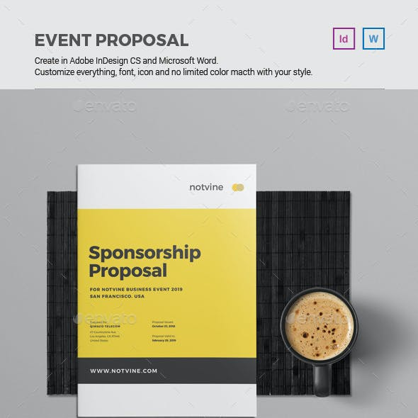 Event Proposal Stationery And Design Templates From Graphicriver