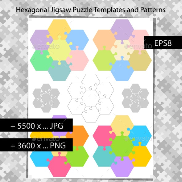 Hexagonal Jigsaw Puzzles - Backgrounds Business